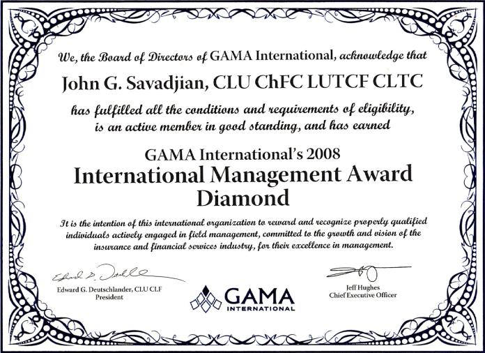 john savadjian gama diamond 2008